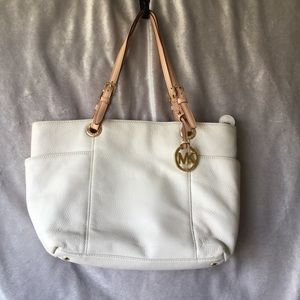 Authentic Michael Michael Kors Cream Leather Bag